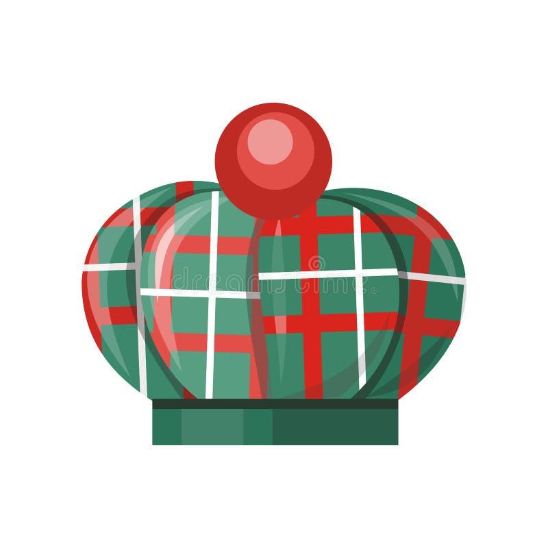 Sombrero escocés en blanco ilustración del vector