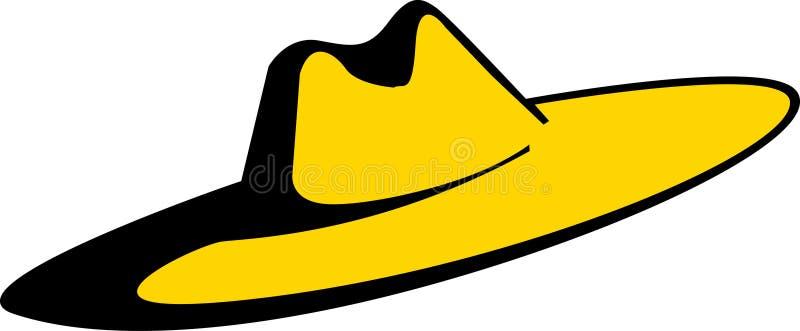 Sombrero grande del sombrero stock de ilustración