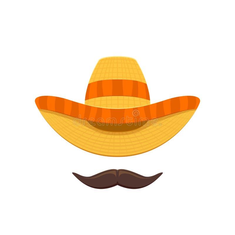 Sombrero i wąs