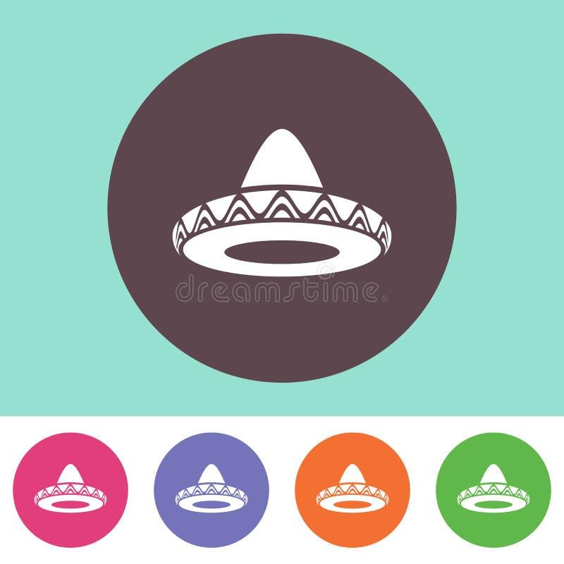 Sombrero ikona ilustracja wektor