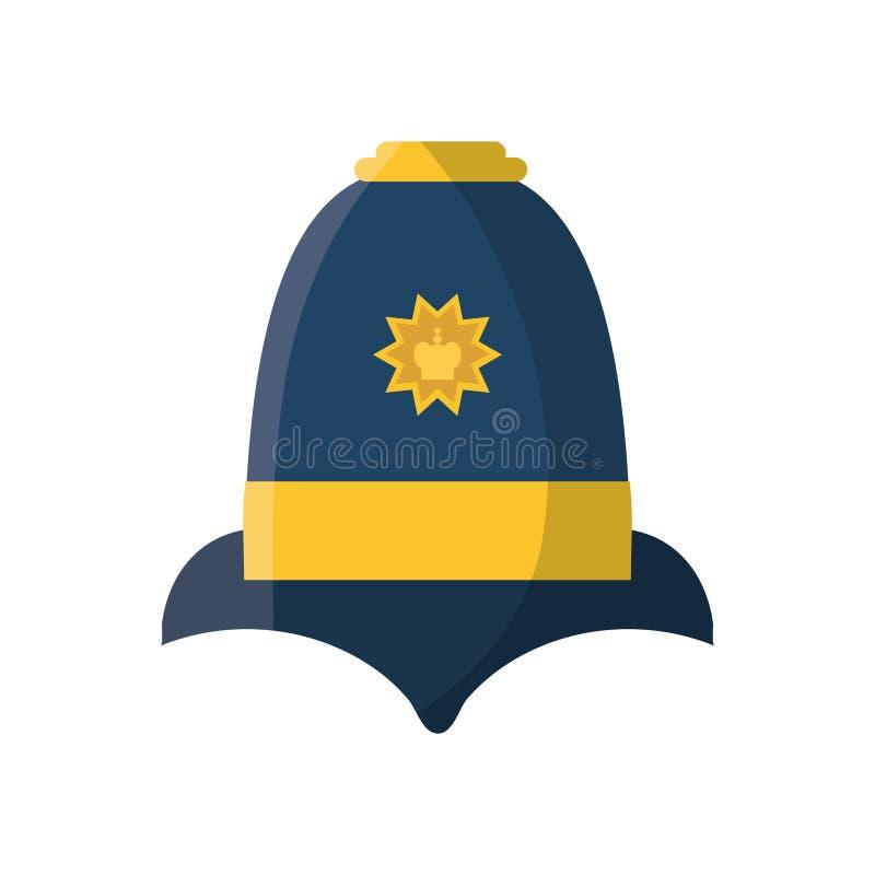 Sombrero inglés de la policía libre illustration