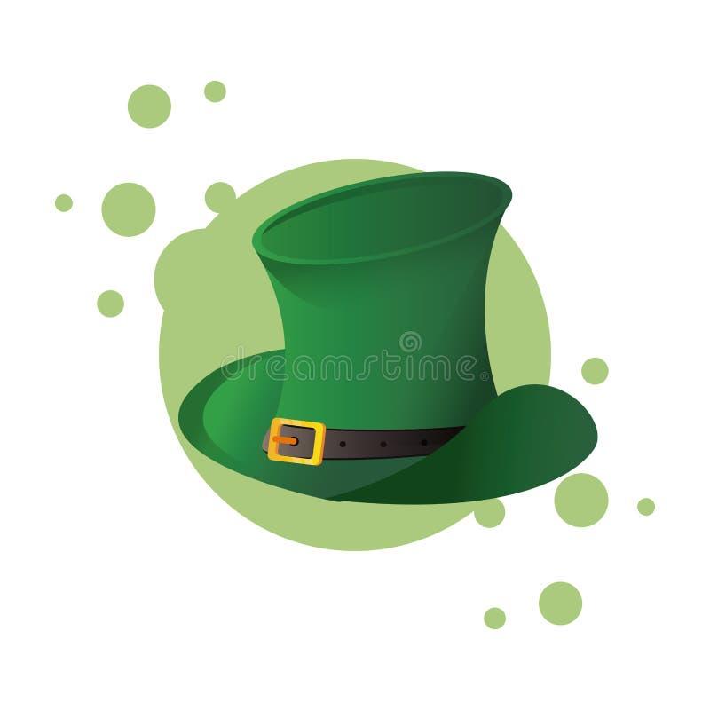Sombrero irlandés del vintage ilustración del vector