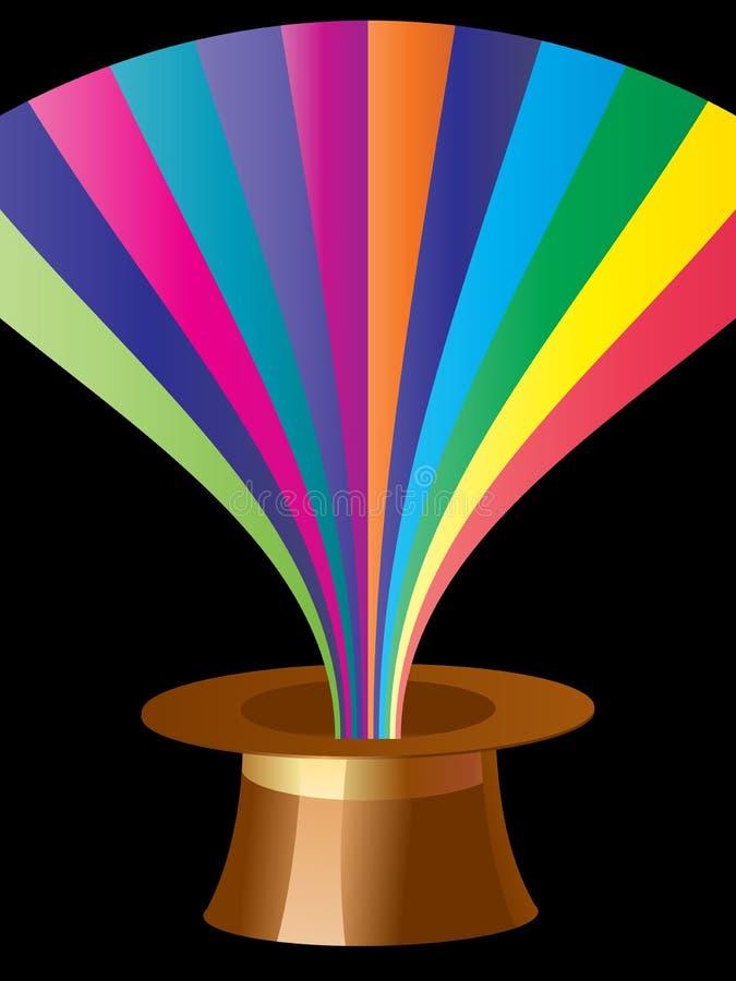 Sombrero mágico stock de ilustración