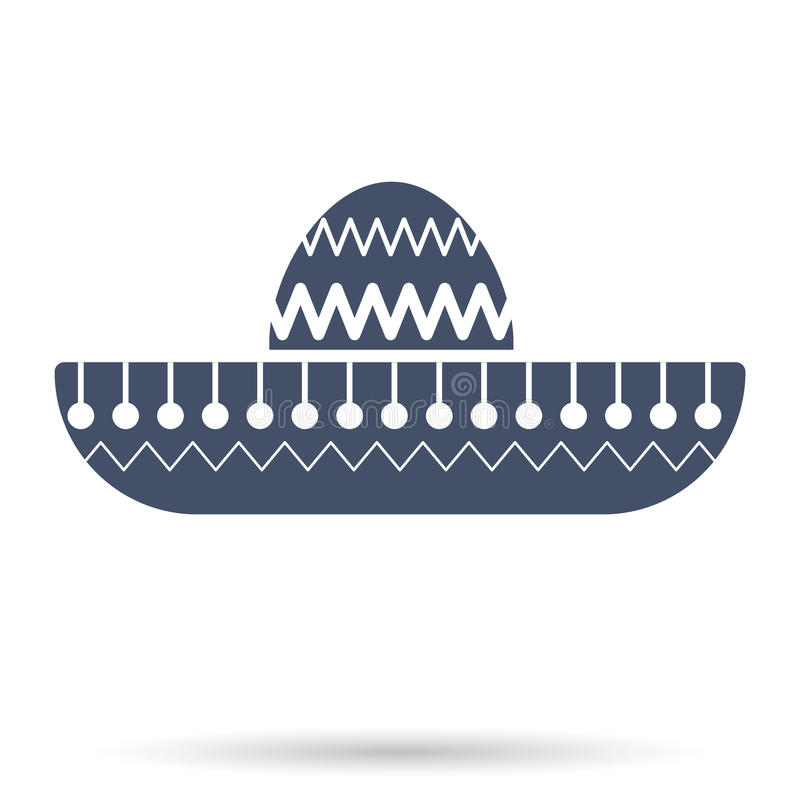 Sombrero Mexican hat symbol. Illustration isolated on background stock illustration