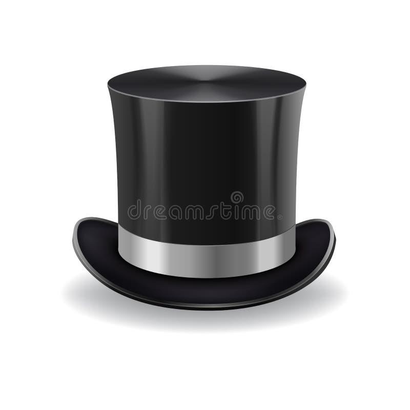 Sombrero negro del caballero ilustración del vector