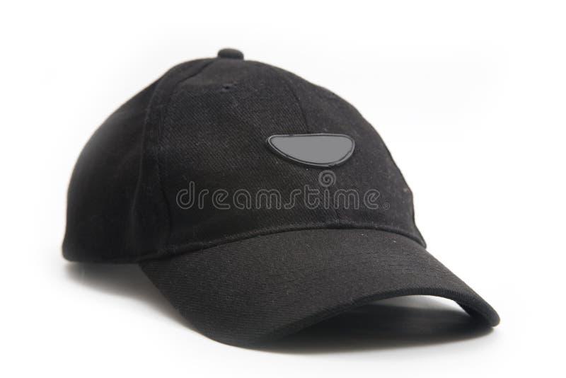 Sombrero negro llano imágenes de archivo libres de regalías
