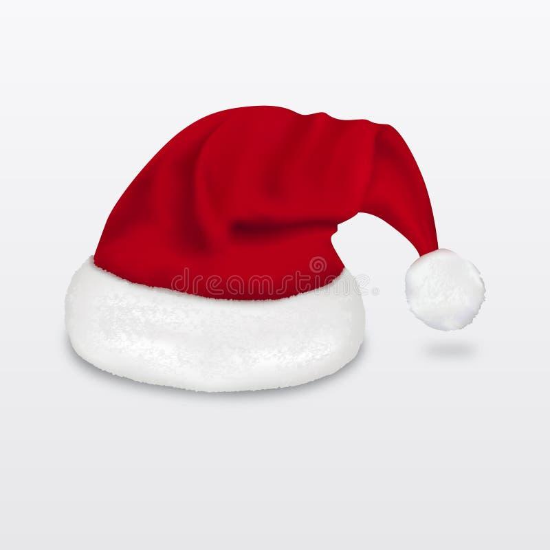 Sombrero realista de Papá Noel imagen de archivo libre de regalías