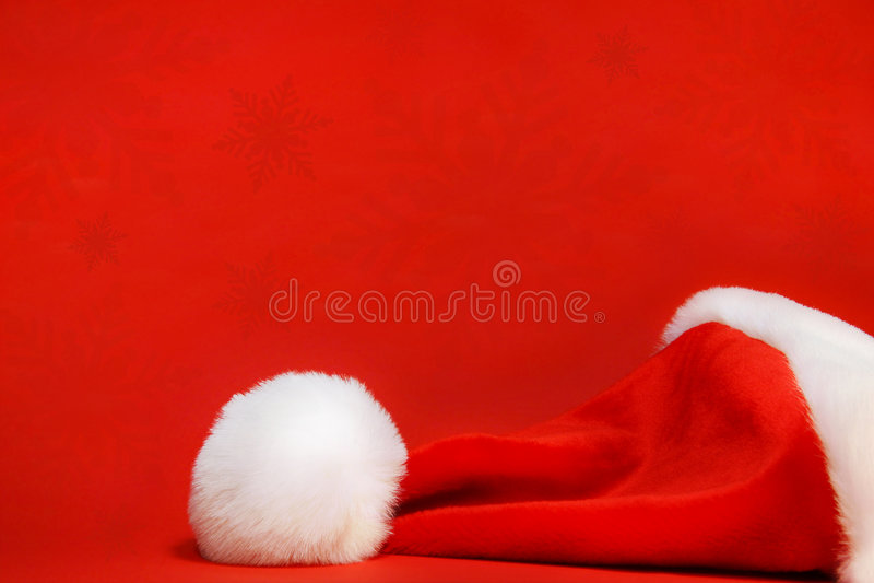 Sombrero rojo de santa fotos de archivo libres de regalías