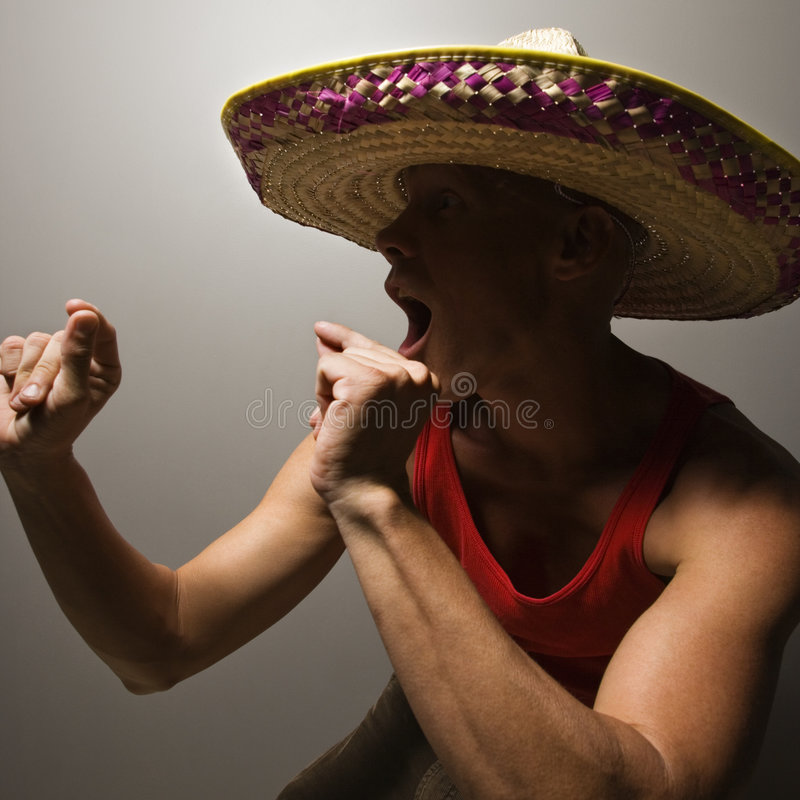 Sombrero s'usant d'homme de danse. photos stock