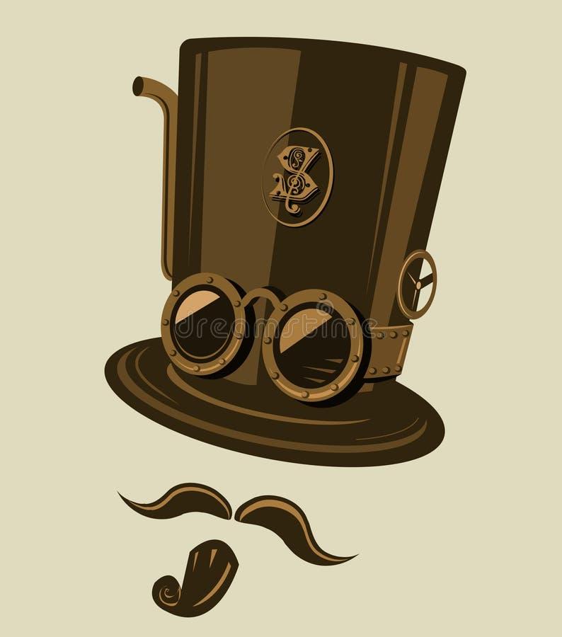 Sombrero superior de Steampunk stock de ilustración