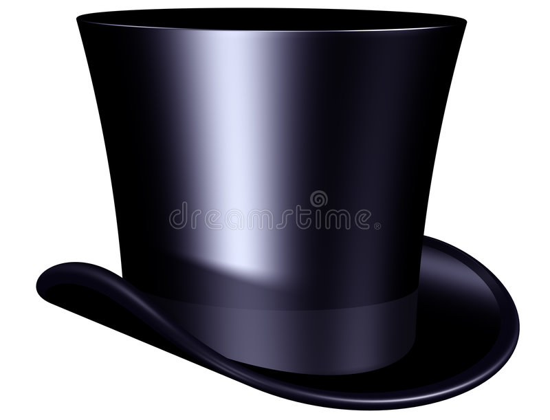 Sombrero superior elegante stock de ilustración