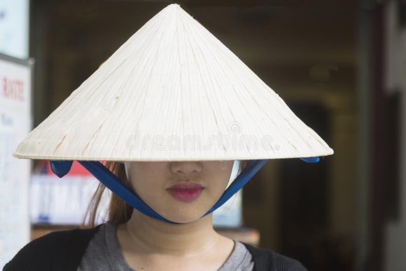 Sombrero tradicional vietnamita imagenes de archivo