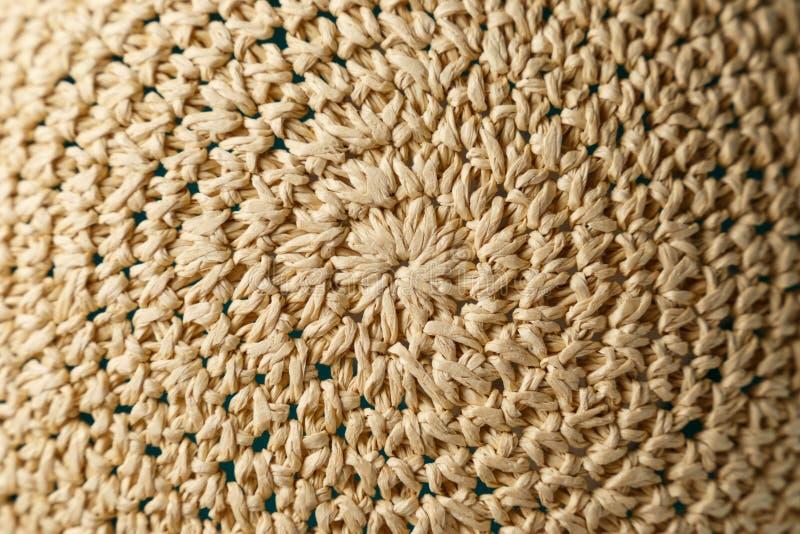 Sombrero trenzado Textura Fondo fotos de archivo