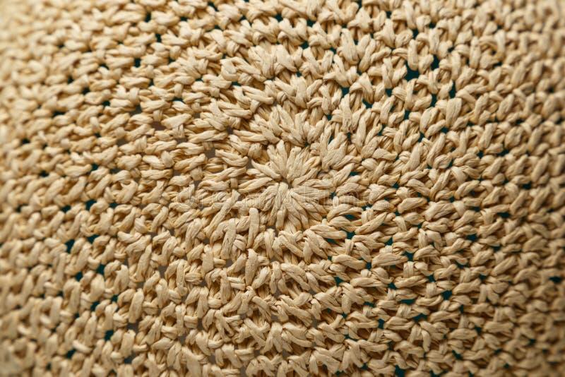 Sombrero trenzado Textura fotos de archivo libres de regalías