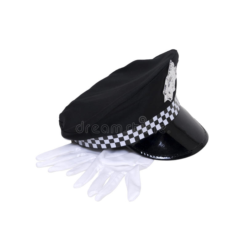 Sombrero uniforme con los guantes foto de archivo libre de regalías