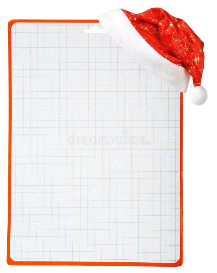 Sombrero y espacio en blanco de la Navidad ilustración del vector