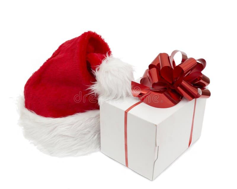 Sombrero Y Regalo De Santa Foto de archivo libre de regalías