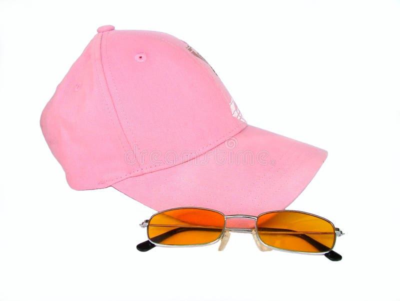 Sombrero y vidrios fotografía de archivo libre de regalías
