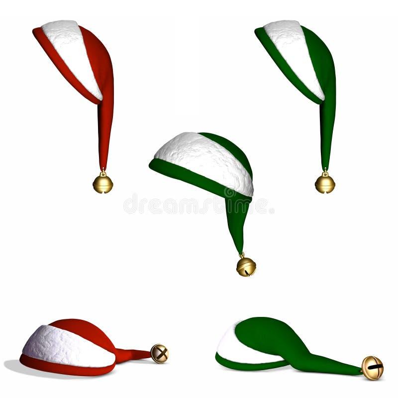 Sombreros 1 de la Navidad stock de ilustración