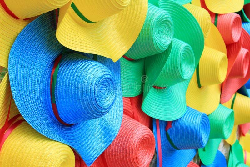 Sombreros coloridos foto de archivo