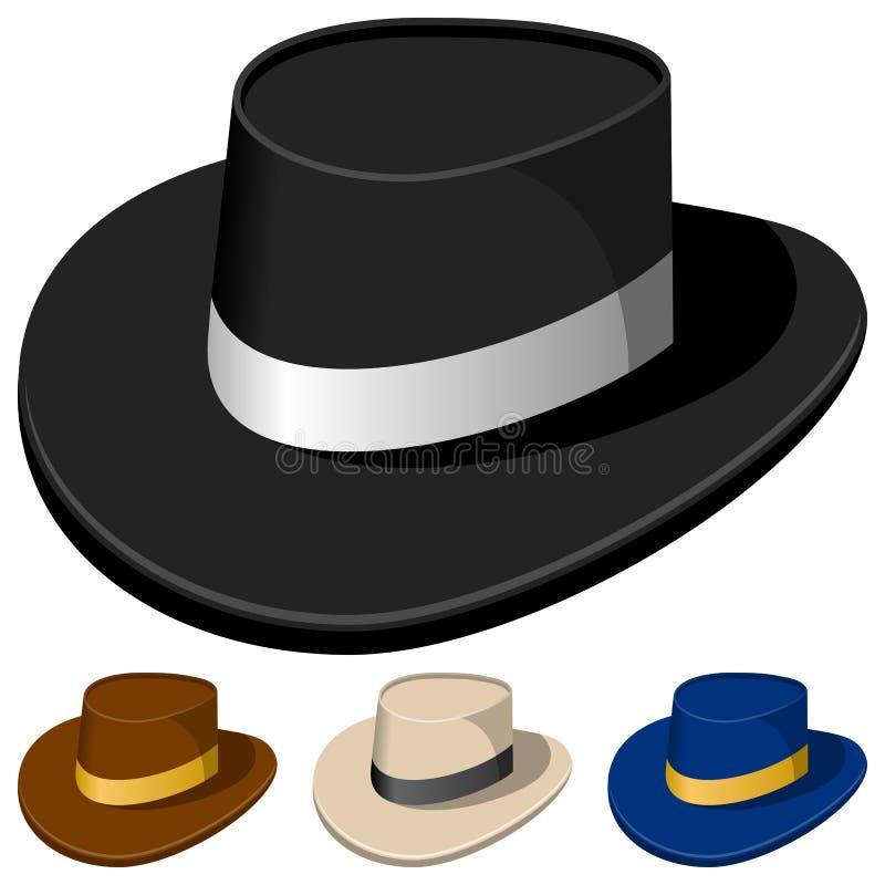 Sombreros coloridos para los hombres ilustración del vector
