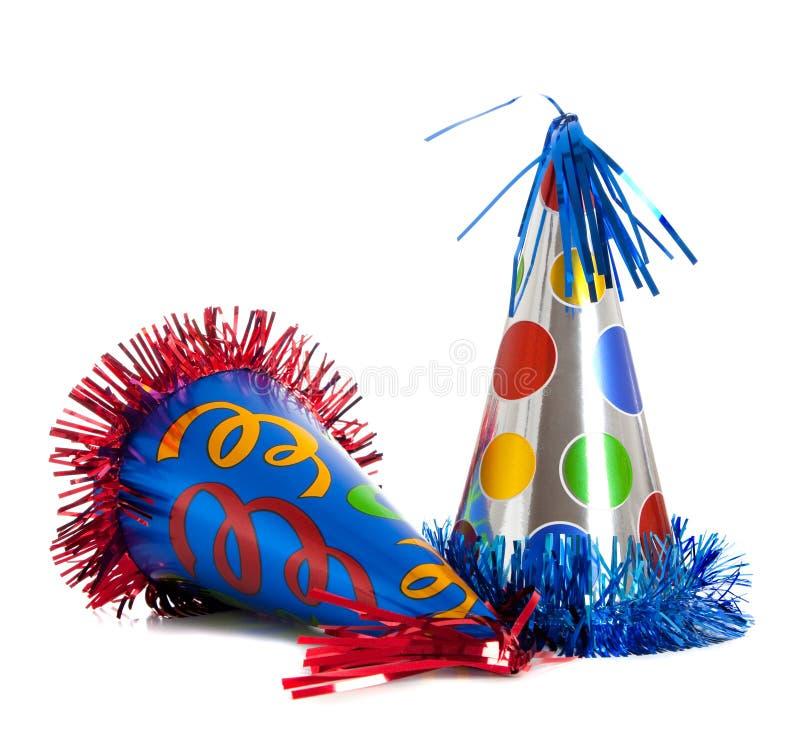 Sombreros de la fiesta de cumpleaños fotos de archivo libres de regalías