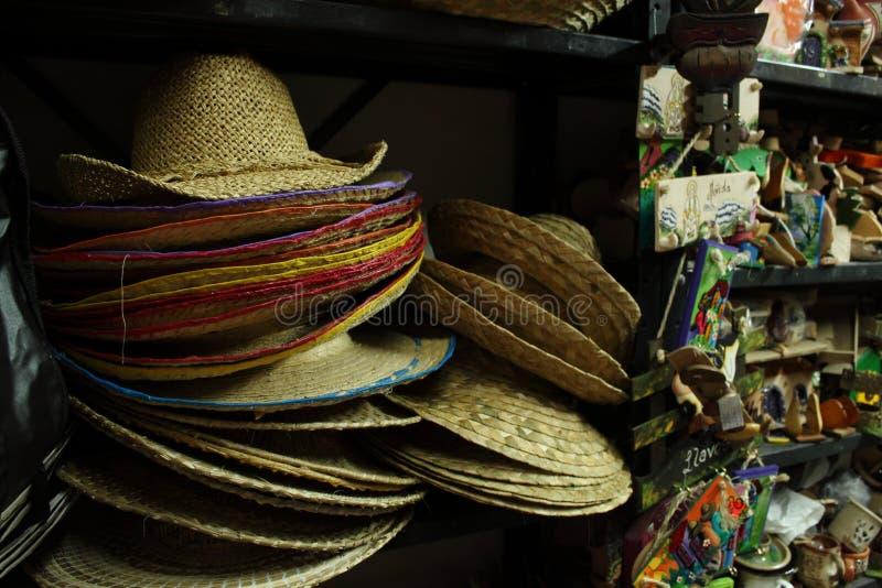 Sombreros de la palma imagen de archivo libre de regalías