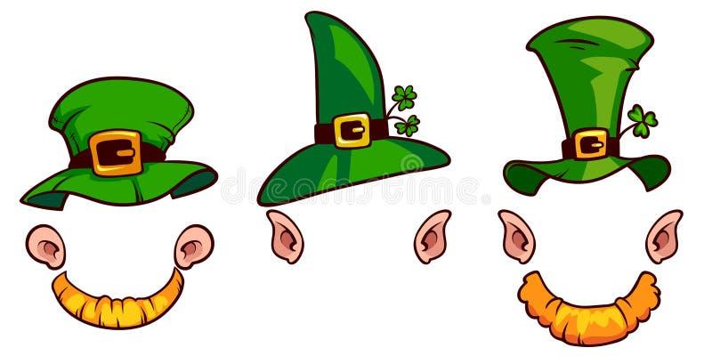 Sombreros de los duendes ilustración del vector