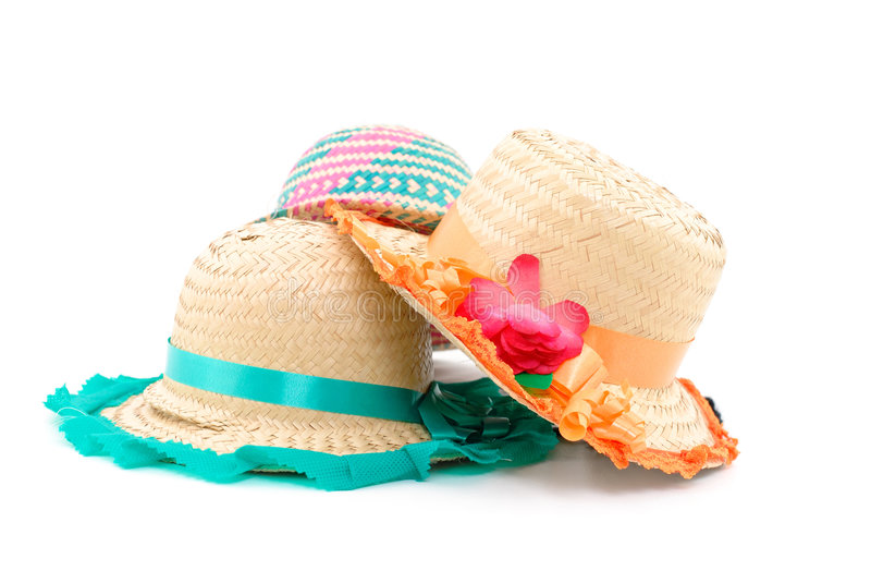 Sombreros de paja imagen de archivo