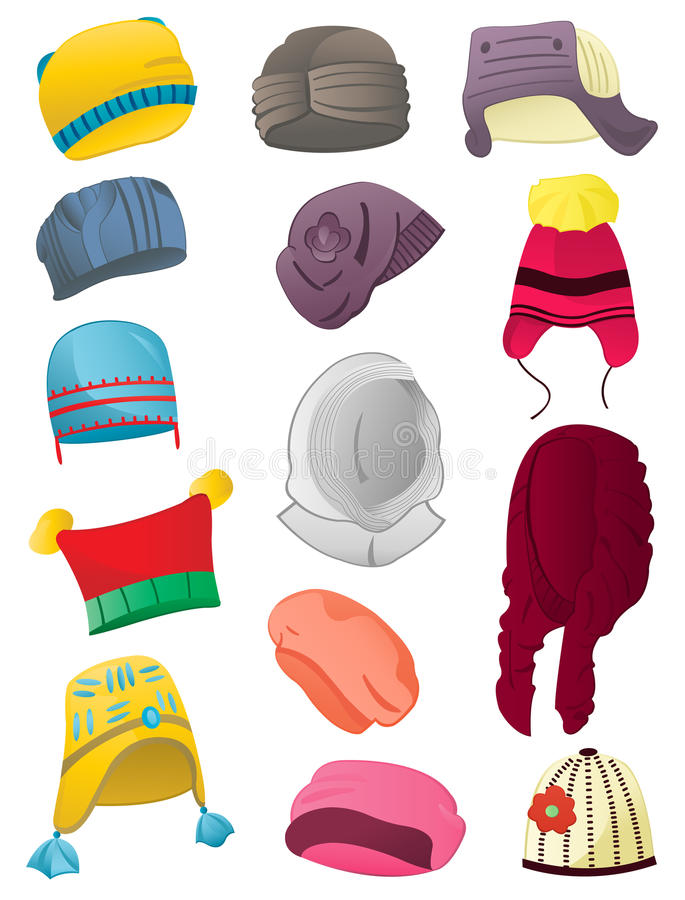 Sombreros del invierno ilustración del vector