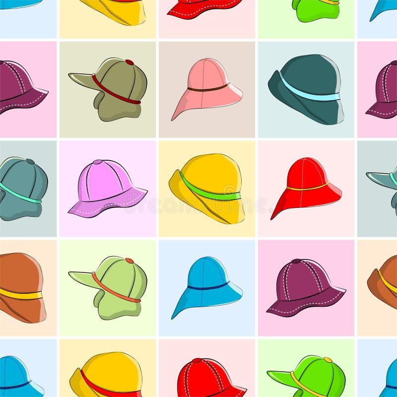 Sombreros del otoño fijados stock de ilustración
