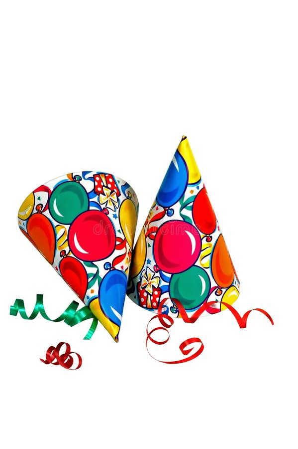 Sombreros del partido imágenes de archivo libres de regalías