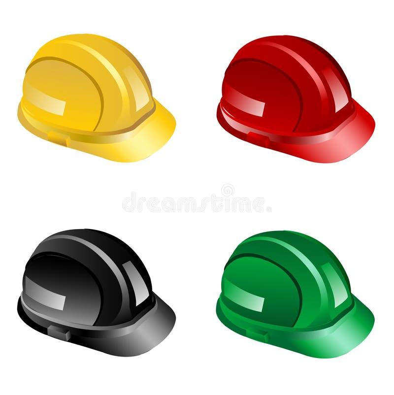 Sombreros duros stock de ilustración