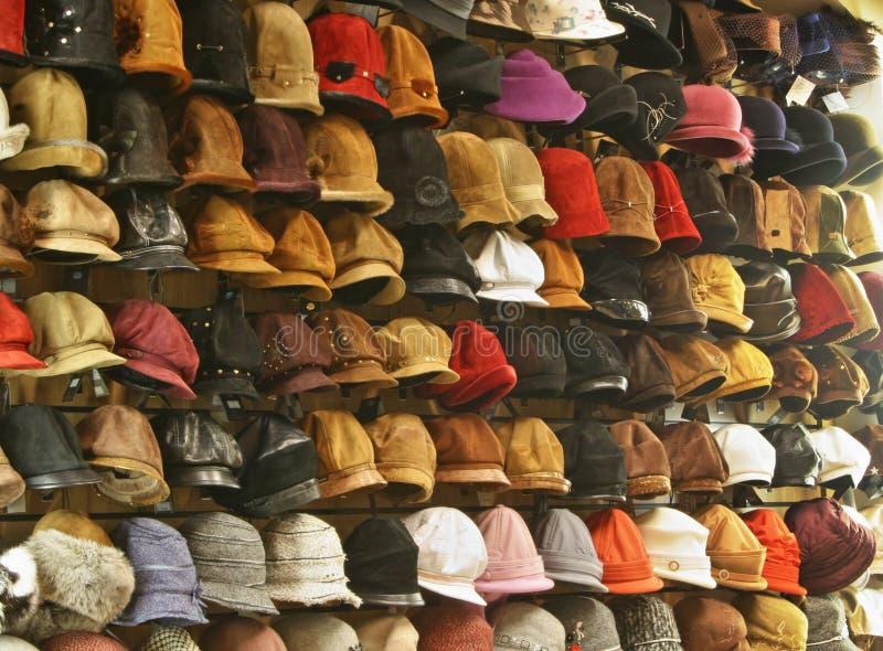 Sombreros en departamento fotos de archivo