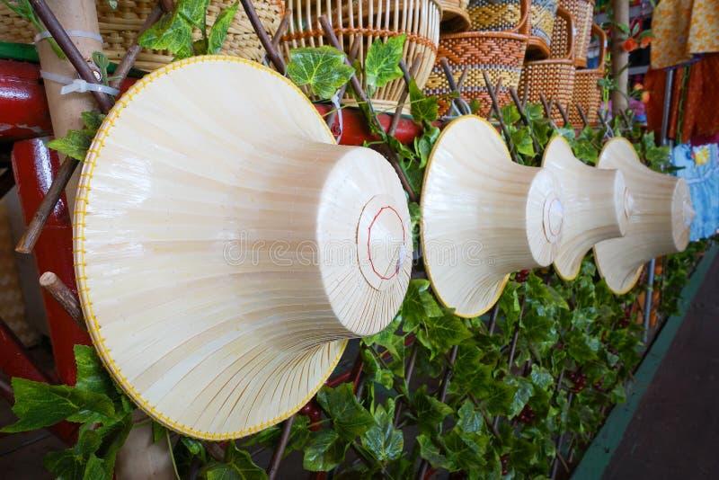 Sombreros hechos de la palma imágenes de archivo libres de regalías