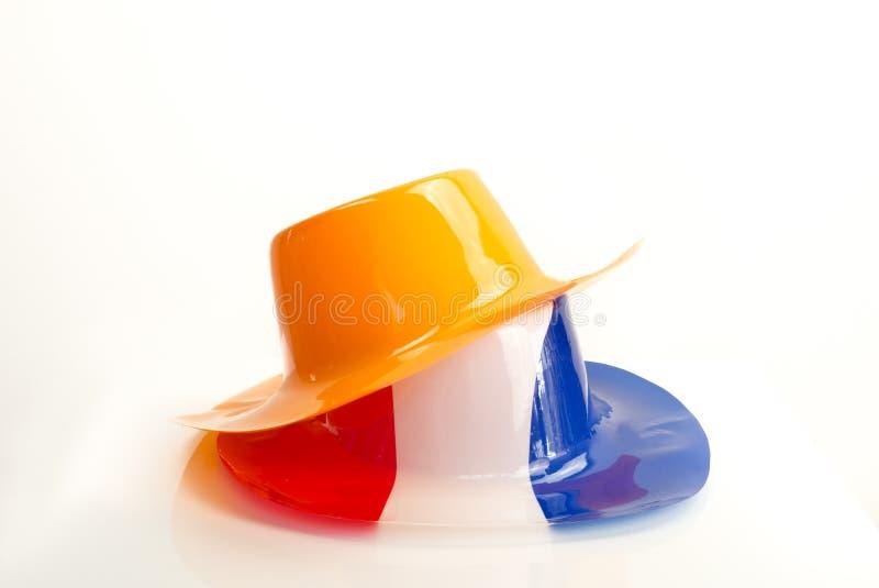 Sombreros holandeses anaranjados imagen de archivo libre de regalías
