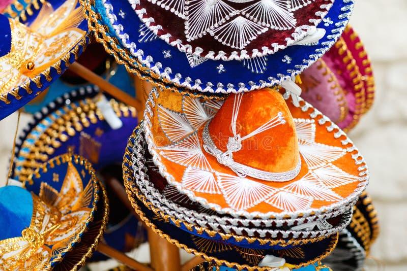 Sombreros mexicanos imágenes de archivo libres de regalías