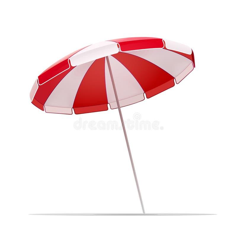 Sombrilla de la playa para el ejemplo del vector del resto del verano ilustración del vector