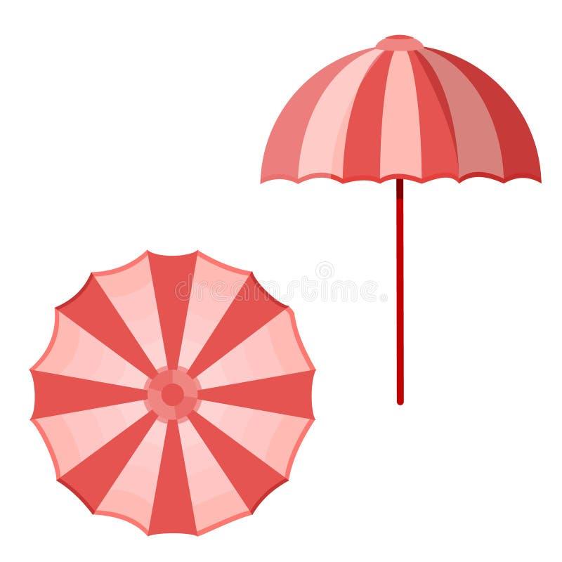 Sombrilla del parasol de playa stock de ilustración