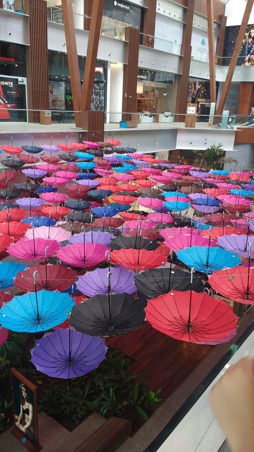 Sombrillas de colores/paraguas coloridos foto de archivo
