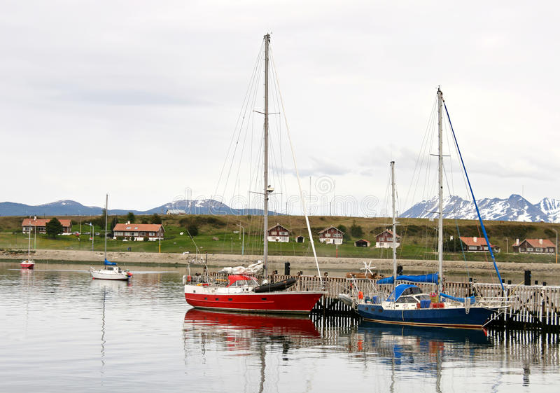 Download Some Boats In Port Of Ushuaia, Stock Image - Image of port, travel: 28242763