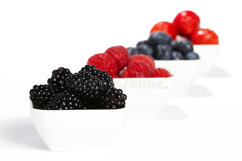 Download Some Bowls Filled With Wild Berries Stock Photo - Image: 20901326