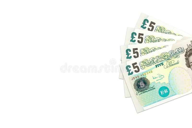 Some british pound sterling notes stock photo