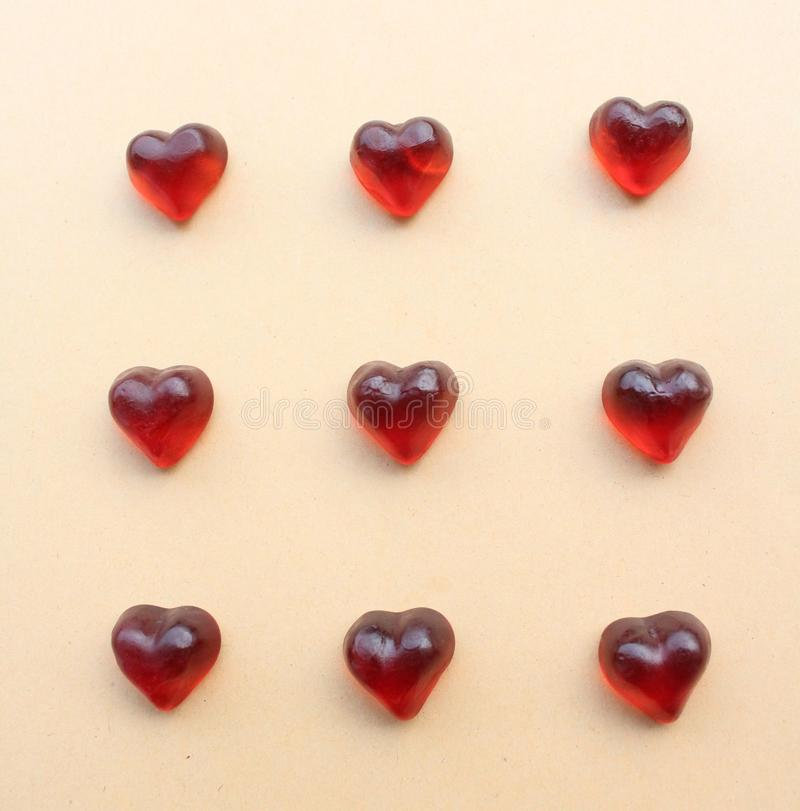 Some candy hearts royalty free stock photos