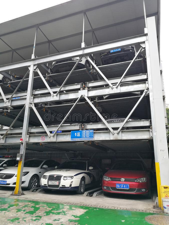Newly Movable Car Park in China stock images