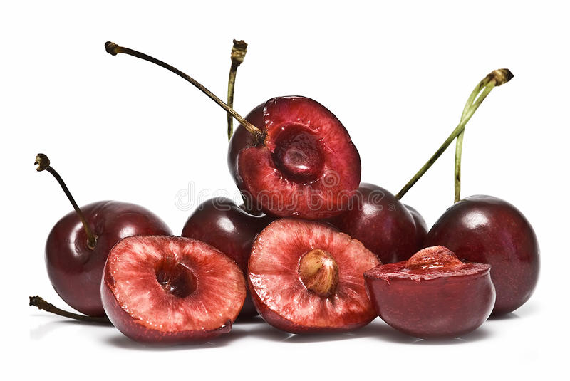 Download Some Cherries And Some Cut. Stock Photo - Image of healthy, cuisine: 14858996