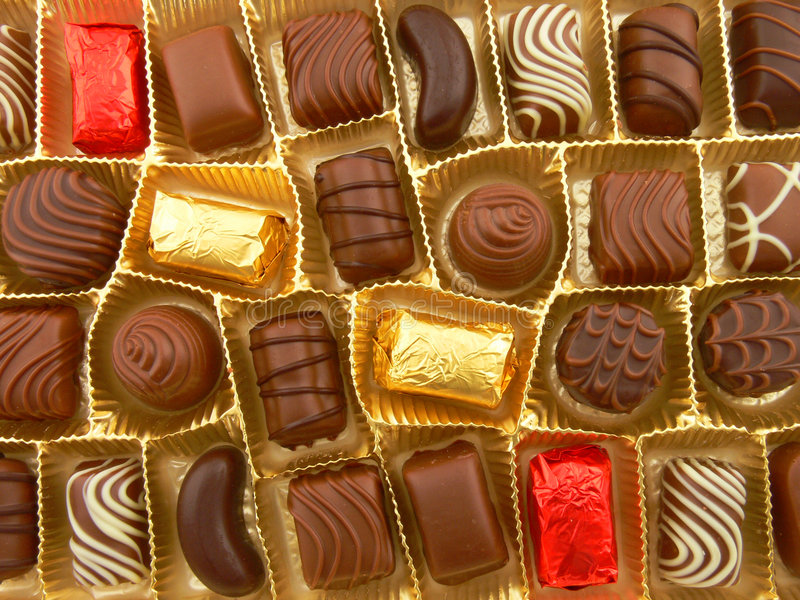 Some chocolate? royalty free stock images