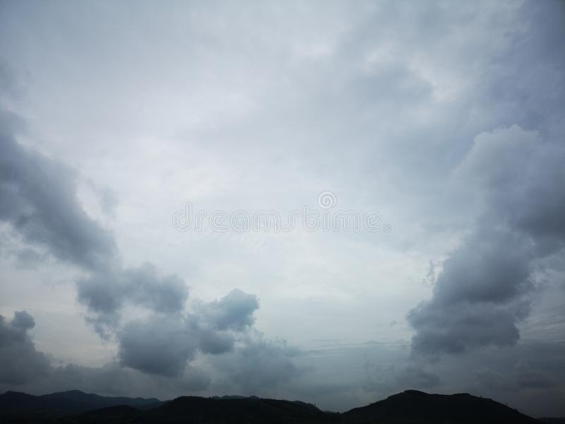 Some clouds is floating from mountain stock images