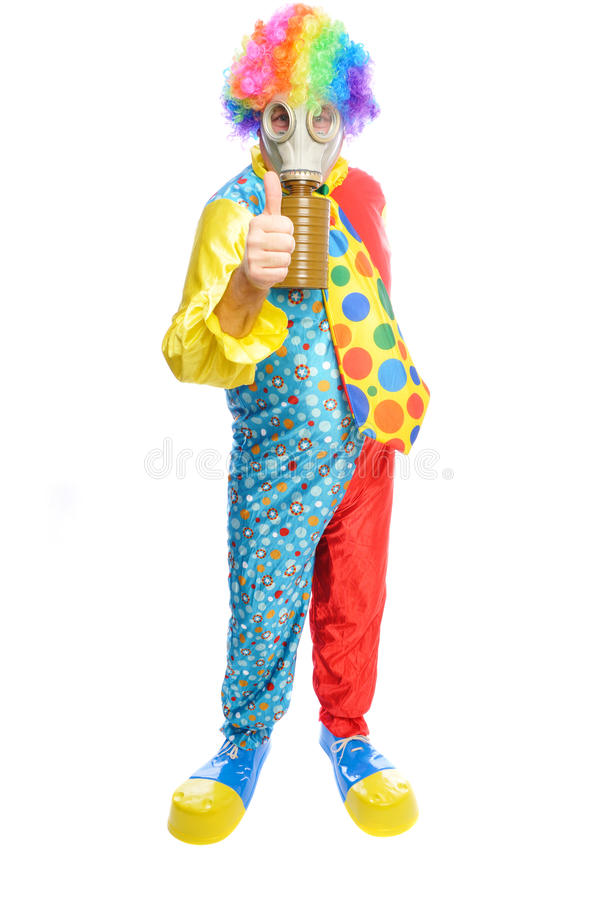 Download Some Clownwearing A Gas Mask Stock Photography - Image: 12580092