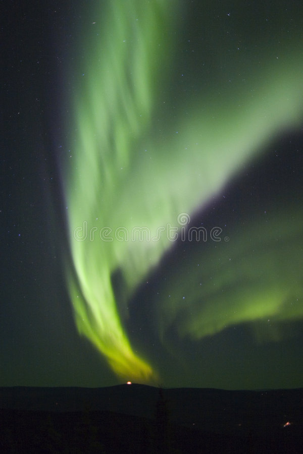 Some color of northern lights stock image